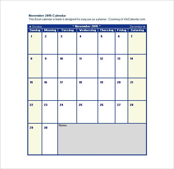 blank monthly 2015 calendar schedule template in excel
