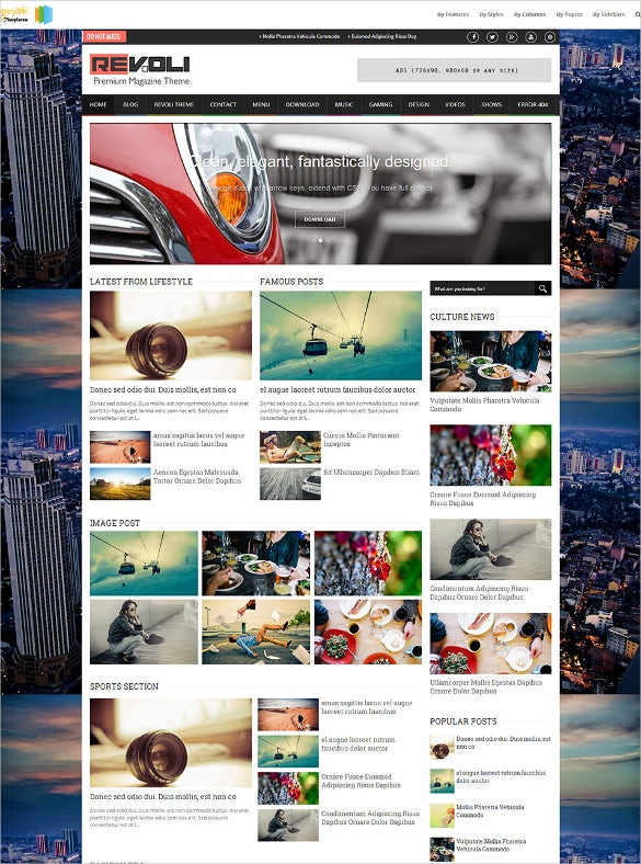 photography responsive blogger template