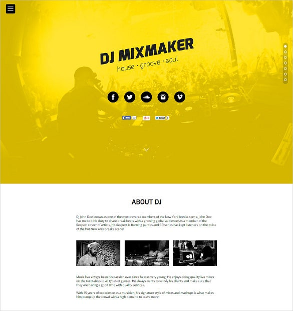 dj mix maker website muse template