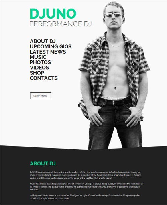 dj producer muse template