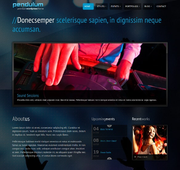 beautiful dj wordpress theme