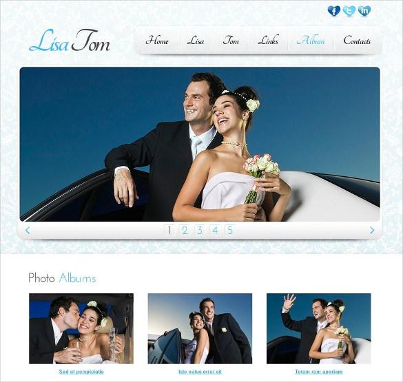 free wedding album website template