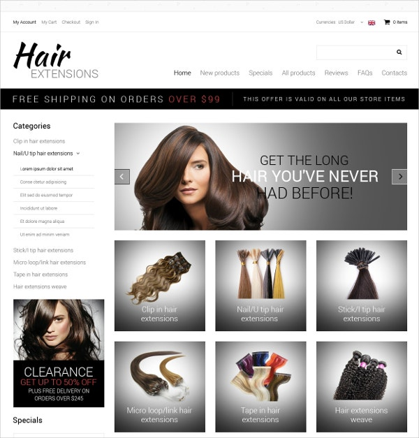 premium hair salon zencart template 139