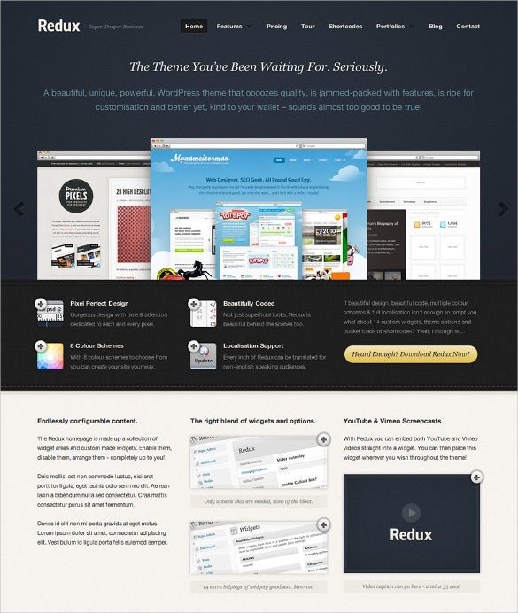 free business website design template
