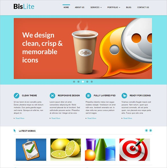 21 free business website themes templates free premium templates free online food store business website template wajeb Gallery