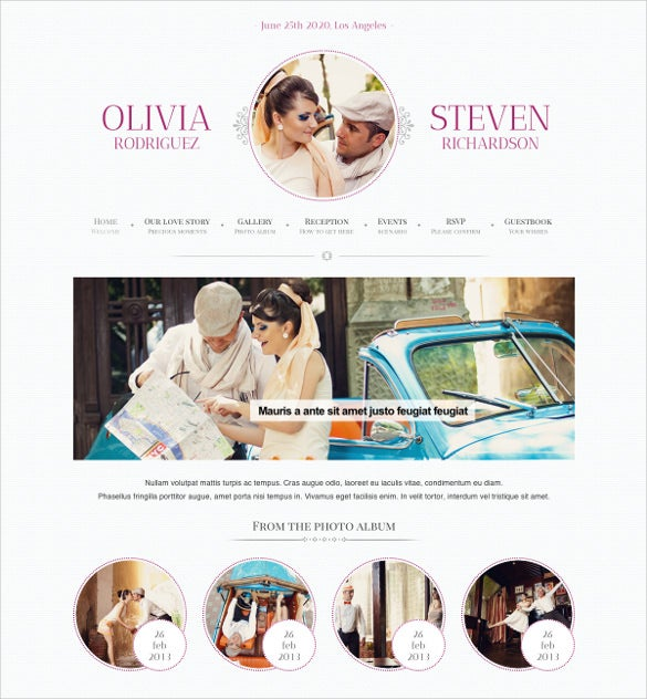 Responsive Wedding Event Planning Google Website Template