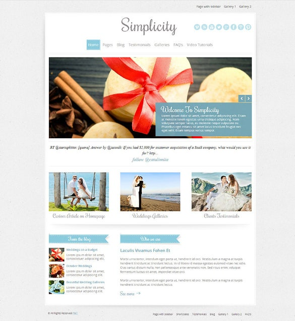 free wedding website templates dreamweaver