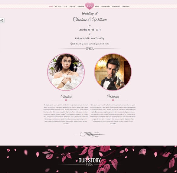 responsive marriage invite google website theme
