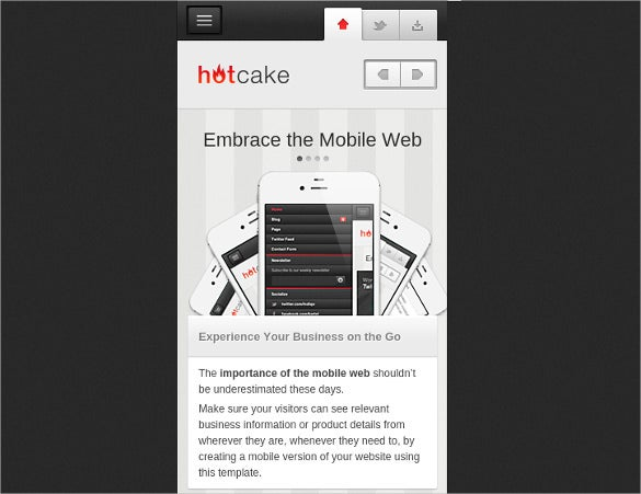 hotcake mobile business html template