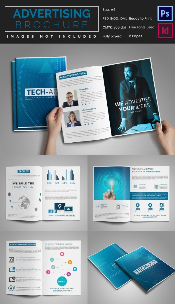 8 Advertising Brochure tempalte