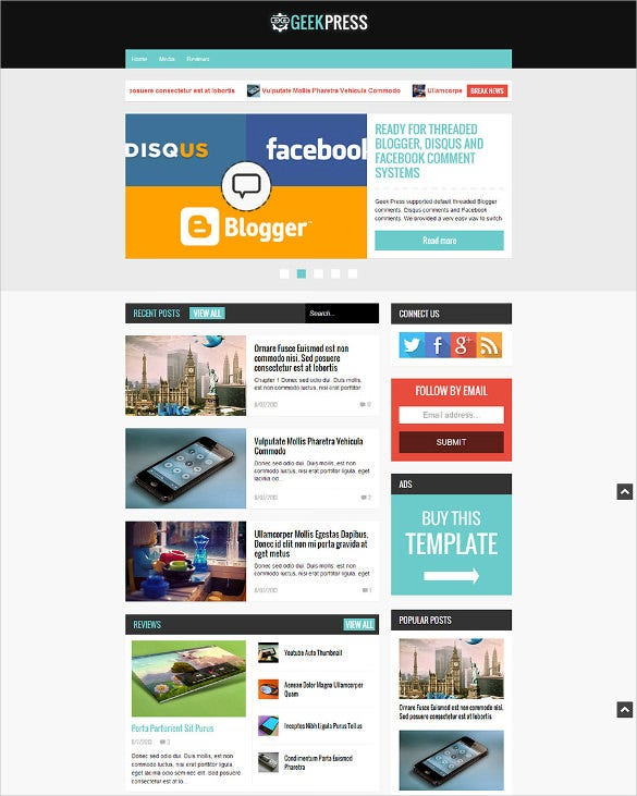 fully responsive news magazine template
