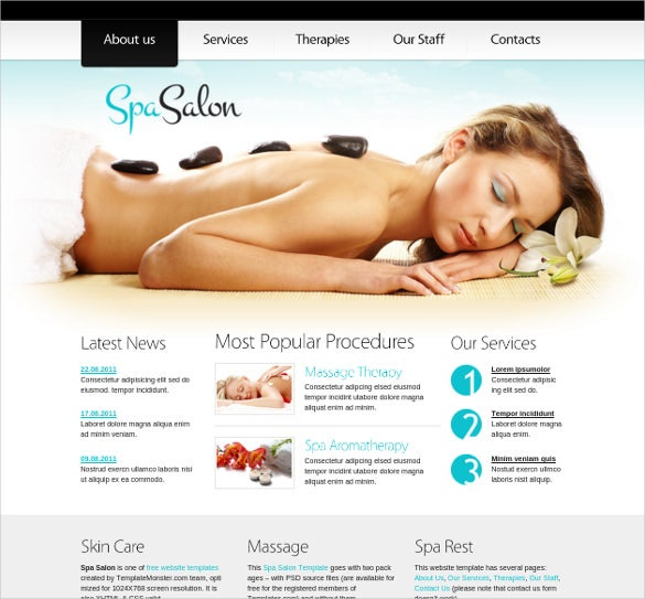 free responsive salon website html5 theme