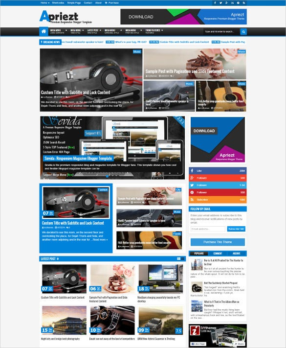 professional responsive magazine news blogger theme