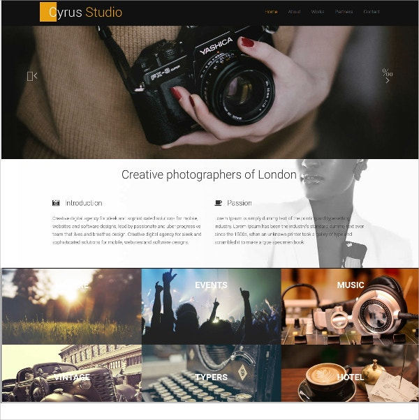 photography free css template