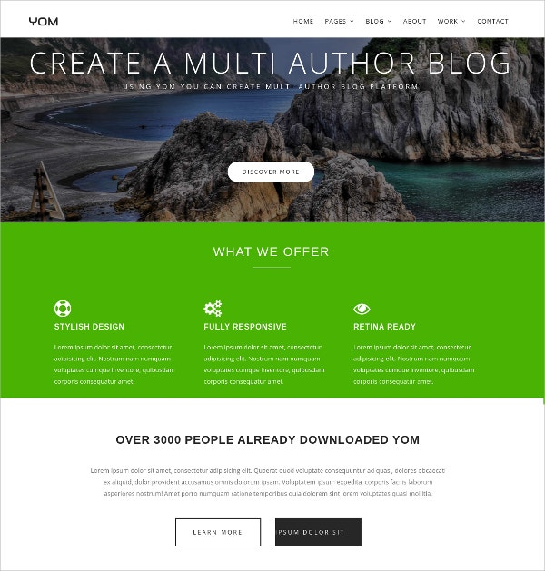 Multipurpose Free CSS Template