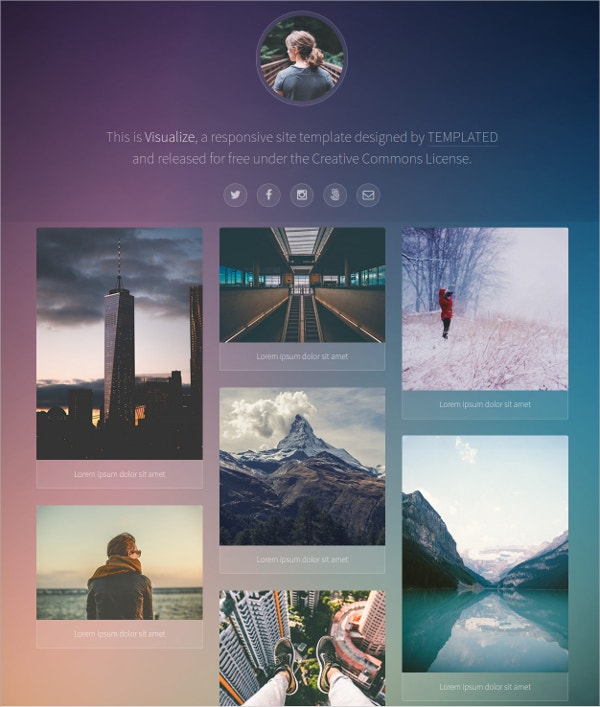 Free Simple One Page CSS Theme