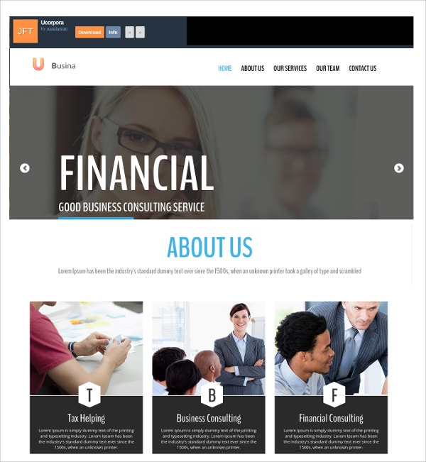Business Consultency sevices Free CSS Template