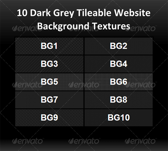 10 dark grey tileable website background textures