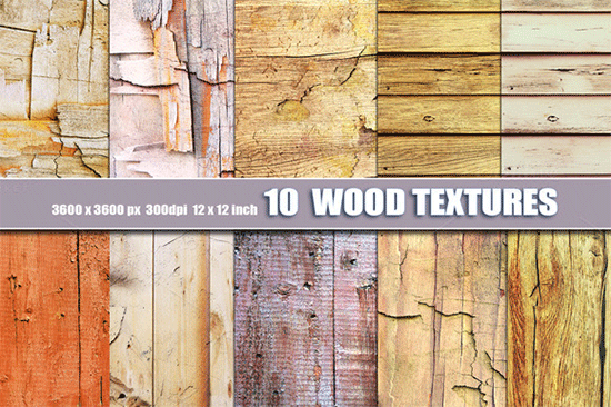 10 old distressed wood backgrounds