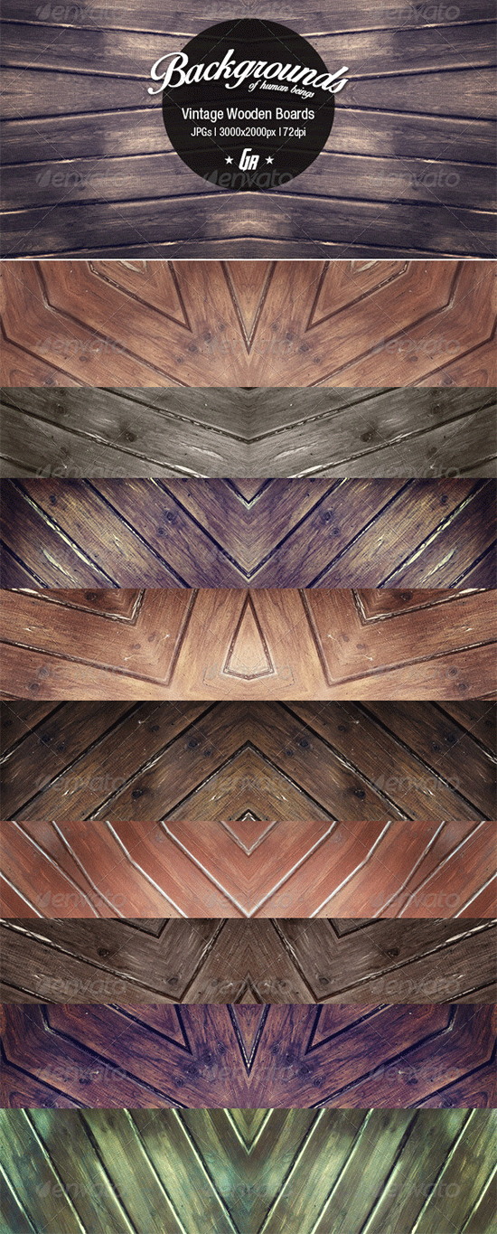 10 vintage wood backgrounds