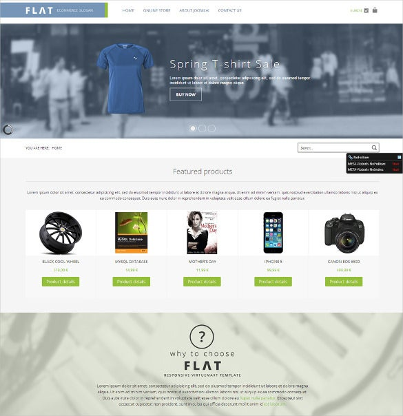 flat store virtuemart template