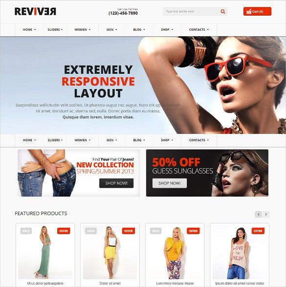 responsive multipurpose virtuemart theme