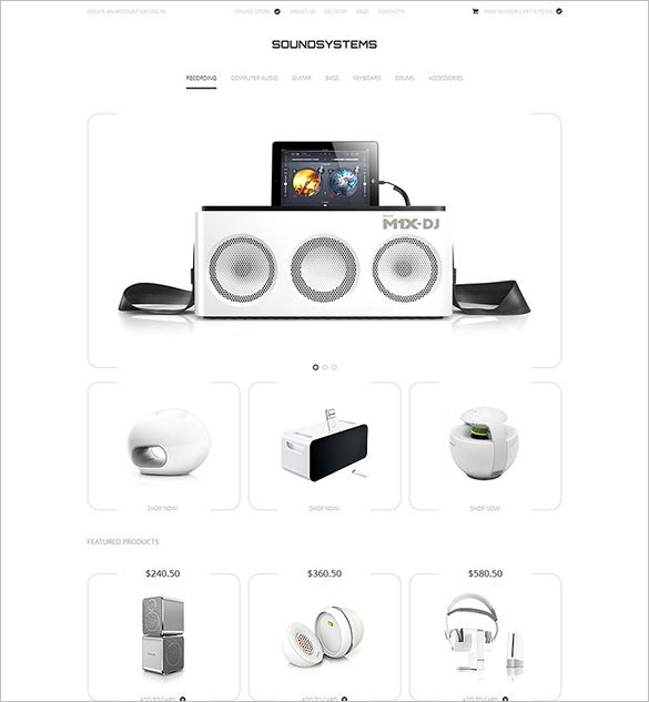 sound systems virtuemart template1