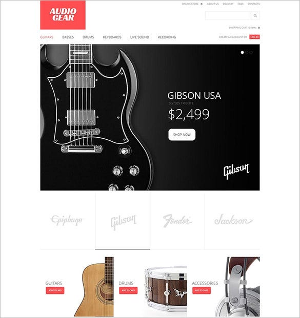 audio gear virtuemart template1