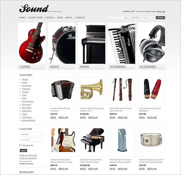 music store virtuemart template1