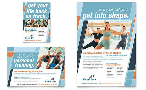 health fitness gym flyer ad template2