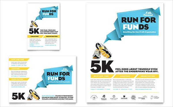 charity run flyer ad template1