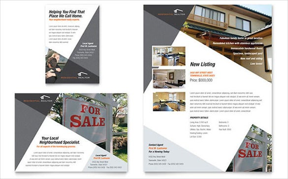 contemporary modern real estate flyer ad template1