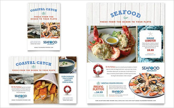 seafood restaurant flyer ad template1