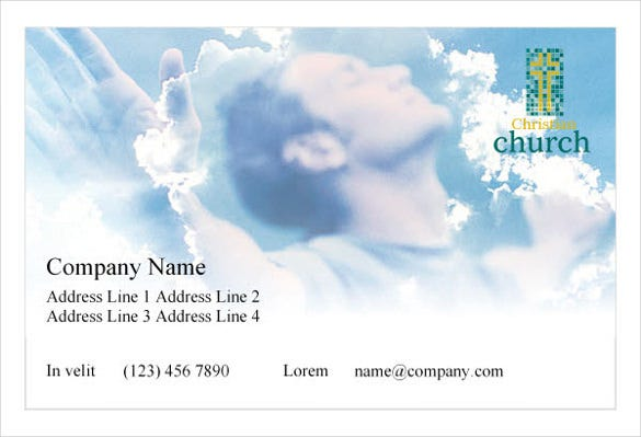 christian church 1 print template pack1