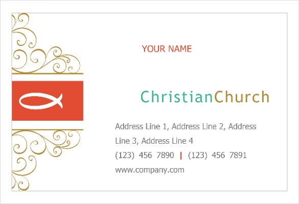 christian church religious print template pack