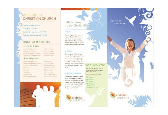 41 hd print ad templates free psd vector eps png for Church brochure templates free
