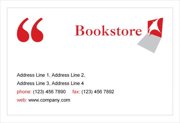 bookstore library print template pack1