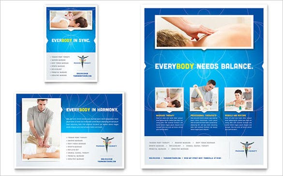 reflexology massage flyer ad template1