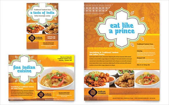 indian restaurant flyer ad template1