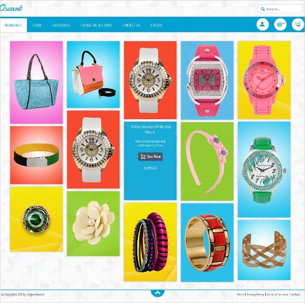 eCommerce Fashion Retail OsCommerce Theme $48