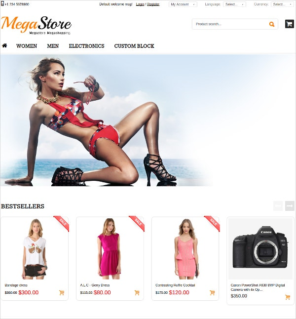 eCommerce Fashion OsCommerce Theme $58