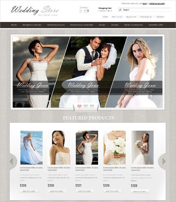 online wedding store opencart template