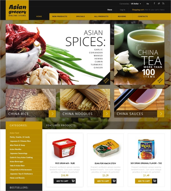 food products store zencart template 139