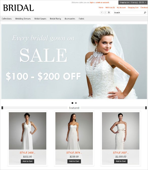 wedding bridal opencart theme