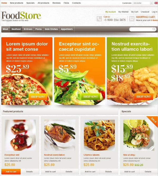 10 Zen Cart Food Store Themes Amp Templates Free Amp Premium