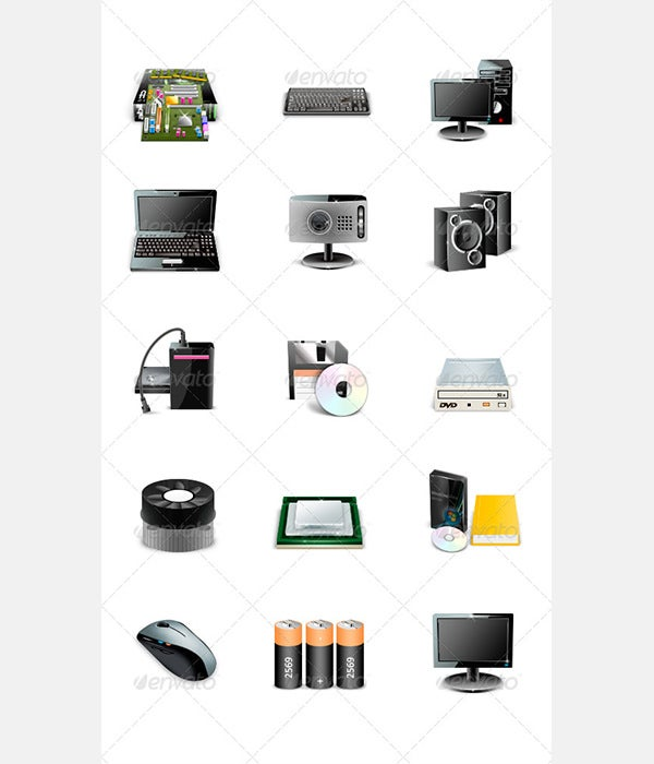 15 Icons - Computers and Accessories