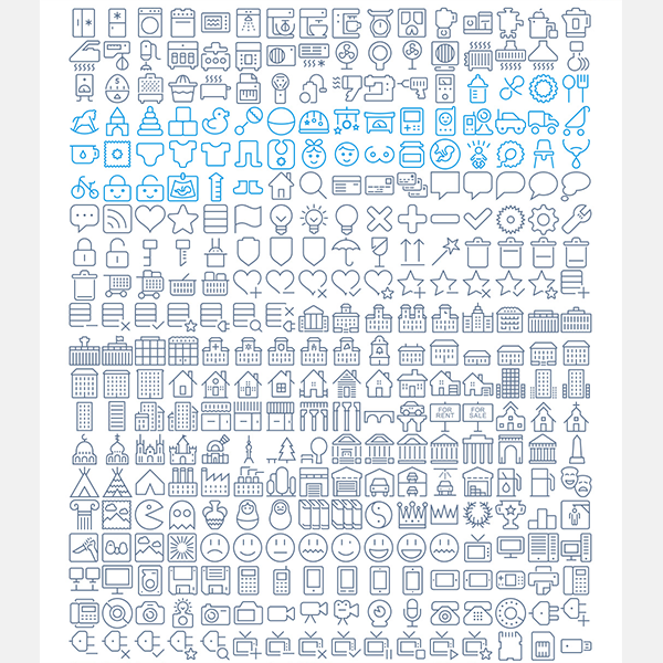 1566 icons in Eldorado Stroke set