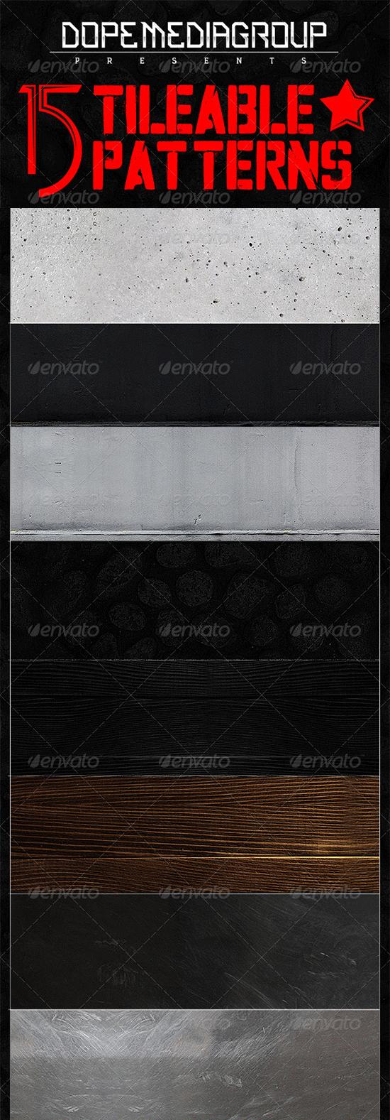 15x seamless grunge metal textures