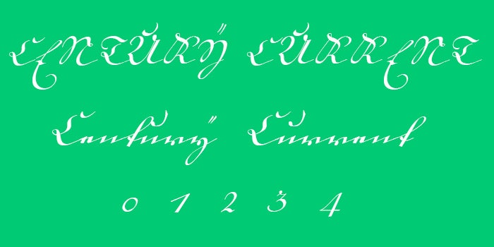 18th century kurrent font family