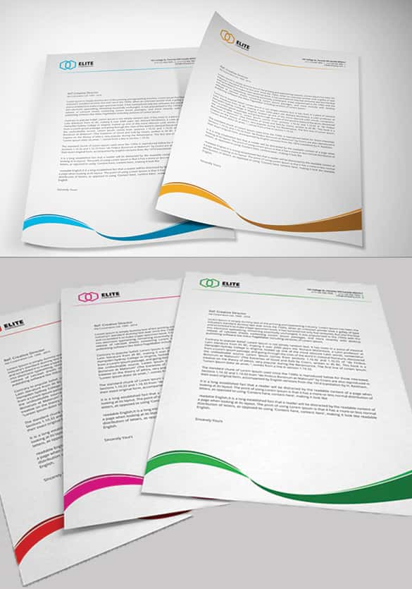 corporate letterhead with effective colours min